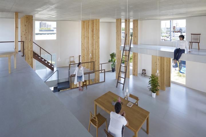 Pillar Grove Office By Mamiya Shinichi Design Studio Nagoya Japan