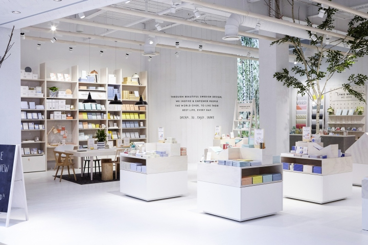 The Store Integrates A Number Of Digital Concepts External Screens To Mall Table Top Storytelling Interior And Hidden Projections