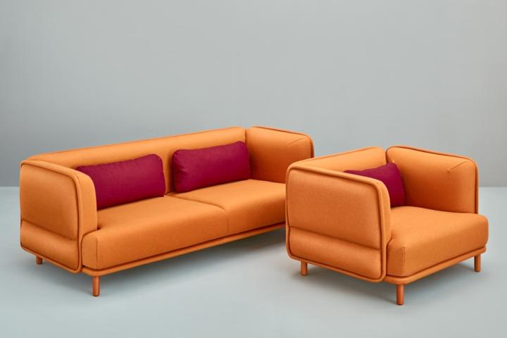 Balea bar stools by muka design lab hug sofa by cristian for Sofa stool design