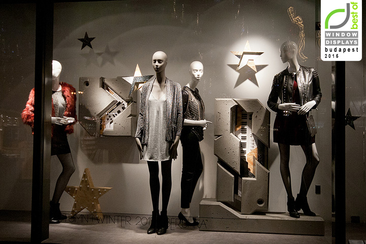 Fashion design contest 2017 - Bershka Windows 2015 Winter Budapest Hungary 187 Retail