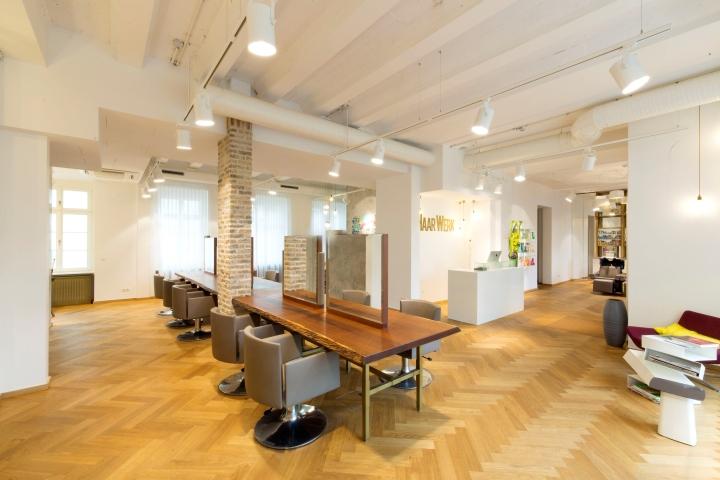Haarwerk salon by universalprojekt frankfurt germany for Interior design frankfurt