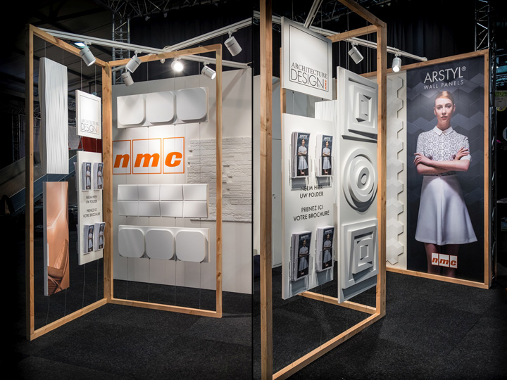 Simple Exhibition Stand Lighting : Nmc arstyl wall panels stand by a b project belgium