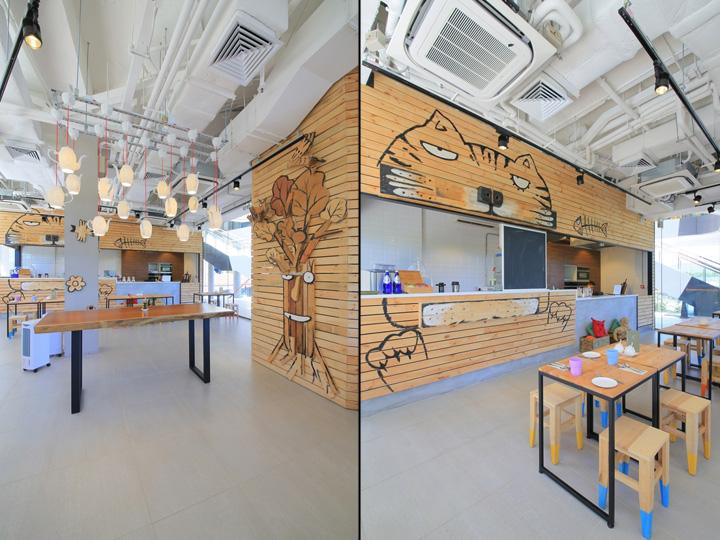 o2 café organic restaurantmas studio, hong kong » retail