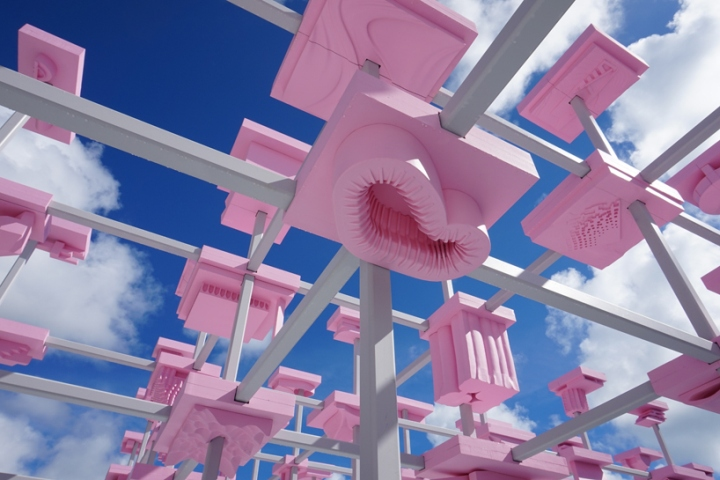 Unbuilt pavilion by harvard gsd at desig miami situated at the entrance of design miami the unbuilt pavilion stands as a welcoming beacon for visitors arriving into this years fair reheart Image collections