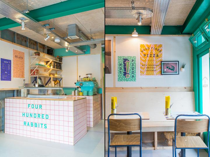 400 Rabbits Pizza Restaurant By Richardson Studio Junction London UK