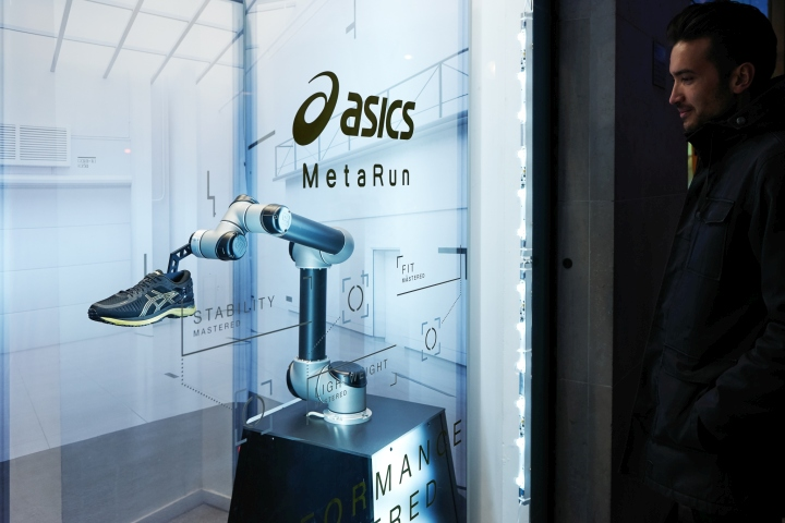 Asics metarun retail concept by green room design for Green room retail