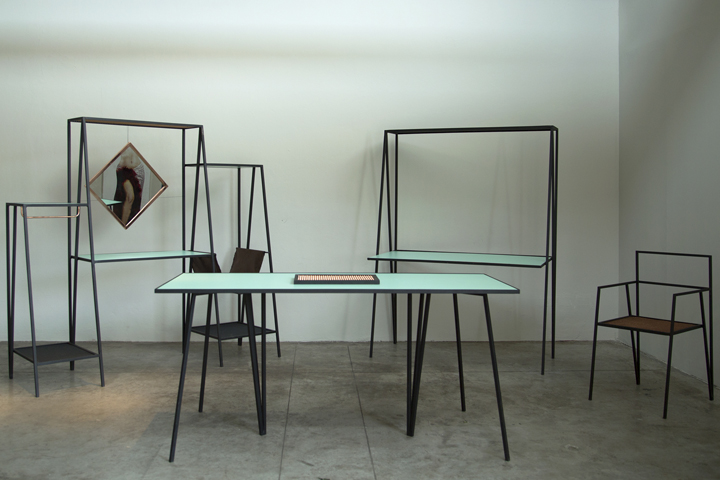 furniture series. alpina is a furniture collection that seeks to relate with its slender lines and angular geometry the spaces it occupies not as volumes but rather series i