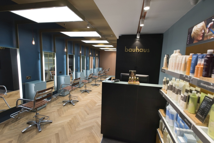 bauhaus hair by reis design cardiff uk retail design blog. Black Bedroom Furniture Sets. Home Design Ideas