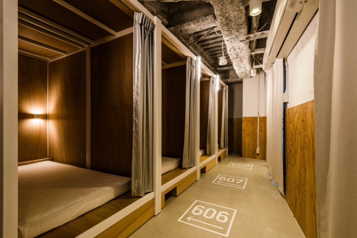 Bunka hostel by space design tokyo japan retail for Decor do hostel