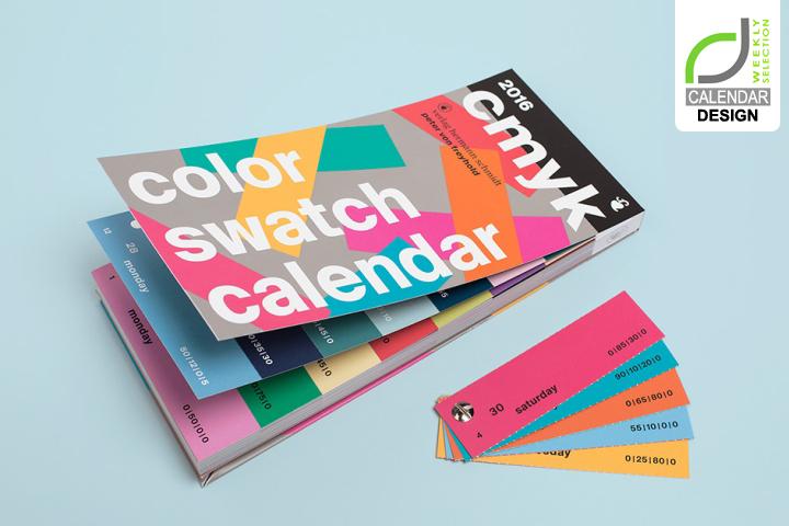 calendar design color swatch calendar by peter von freyhold oui r