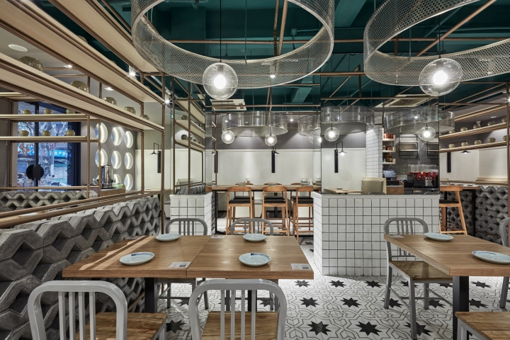 Douyue restaurant by the swimming pool studio shanghai for Pool design studio