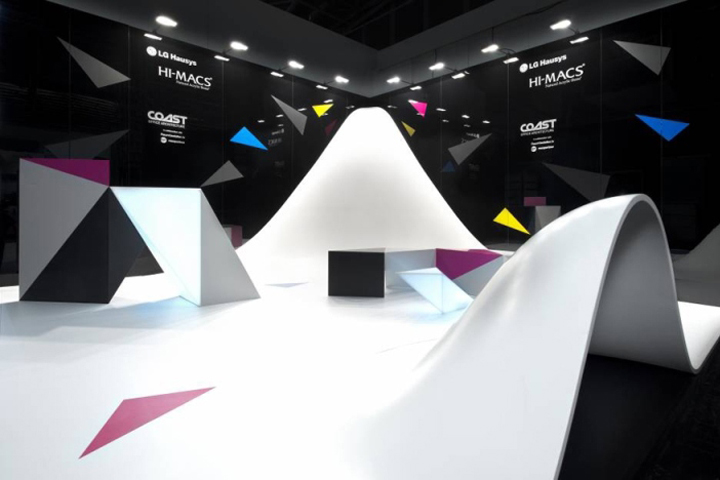 Exhibition Stand Design Pdf : Hi macs stand by coast office architecture london uk
