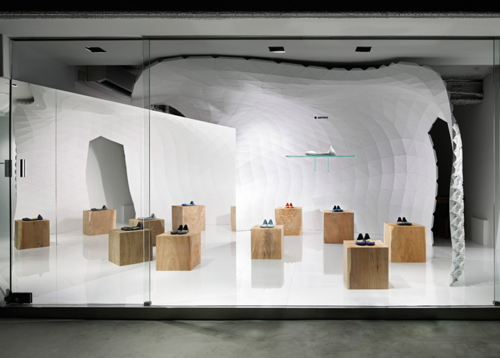 The Rest Of The Storeu0027s Interior Is Painted White And Kept Minimal, With  Serving Counters Hidden From The Shop Window.