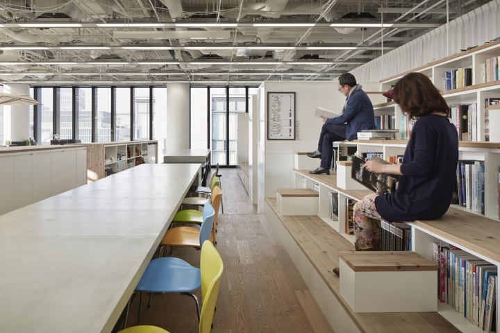 Nikken space design office osaka japan for Interior design office space