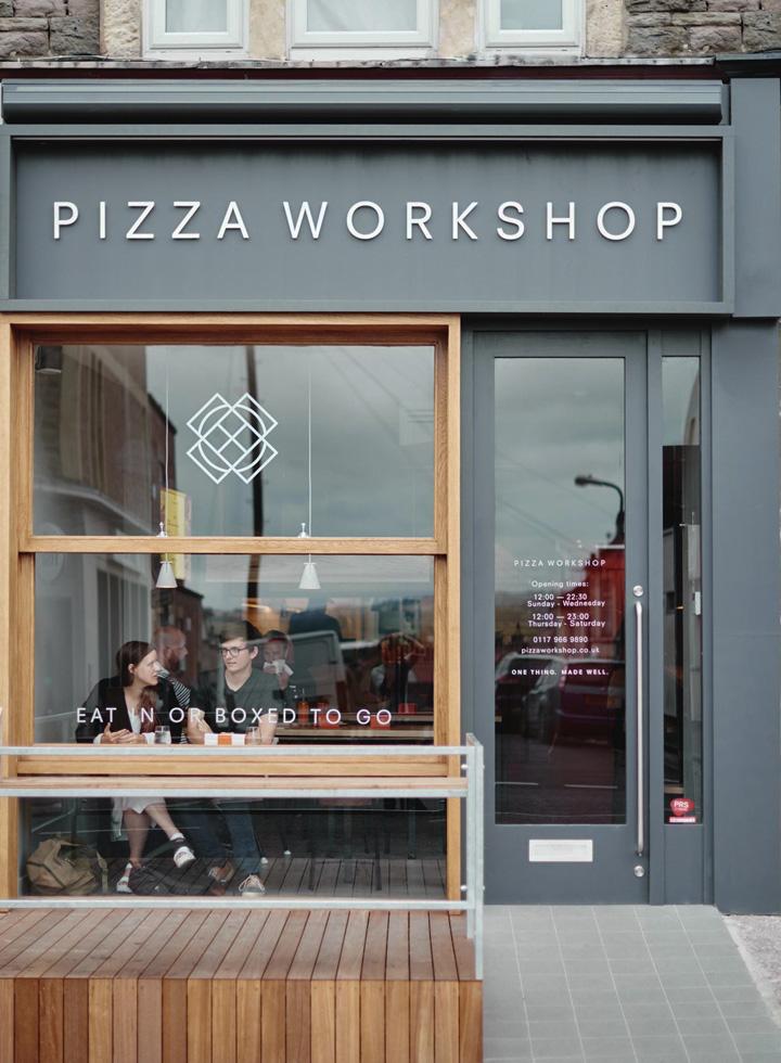 Pizza workshop restaurant interior branding by moon