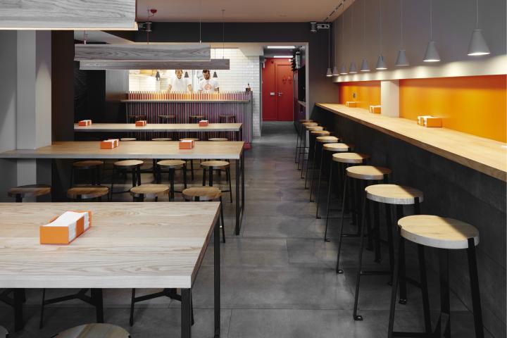Pizza Work Restaurant Interior Branding By Moon Design Build Bristol Uk