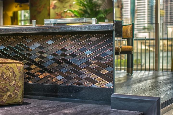 Scales Tiles by Giles Miller Studio at Buddha Bar, Dubai – UAE ...