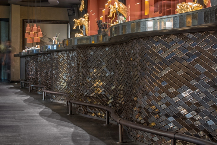 ... Finishes Including Up To Four Metallic Glazes In Matt, High Gloss, And  Crackled Bronze The Studio Created This Undulating Bar Front Artwork For  Multiple ...