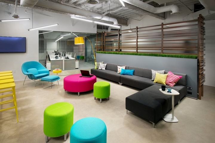Beau The Result Was A Large Central Breakroom, Featuring A Sectional Sofa, A  Foosball Table, And Lush Upholstered Furniture.