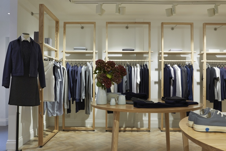 Sunspel store by pop store london uk retail design blog for Retail design companies london