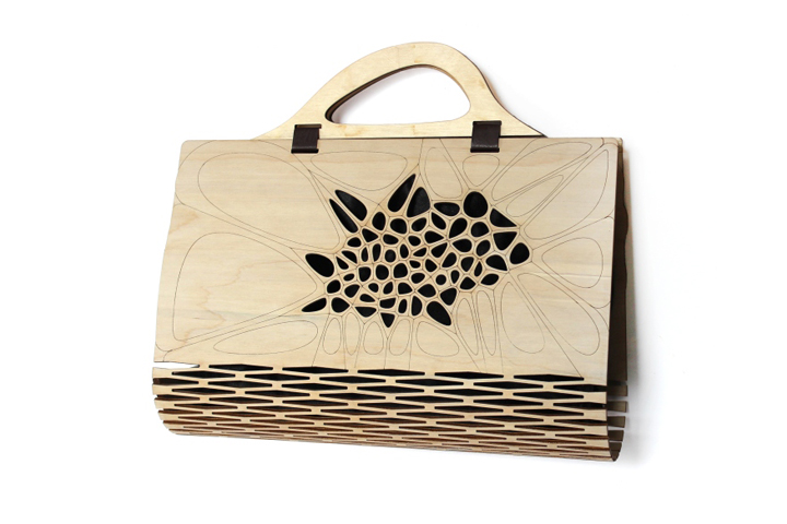 Voronoi   Delaunay Pattern Wooden Bag by Made In Love Studio 349e063605e