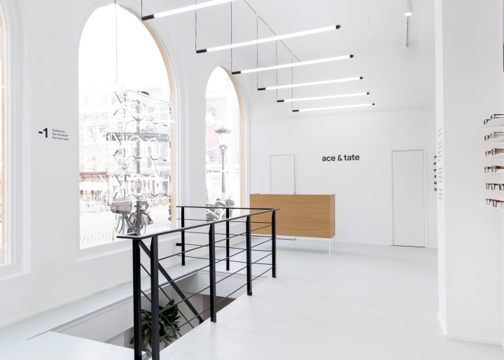 All Furniture And Accessories In The Store Are Custom Made, Including An  Oak Counter And A Static Grid Of Tube Lights On The Ground Floor.