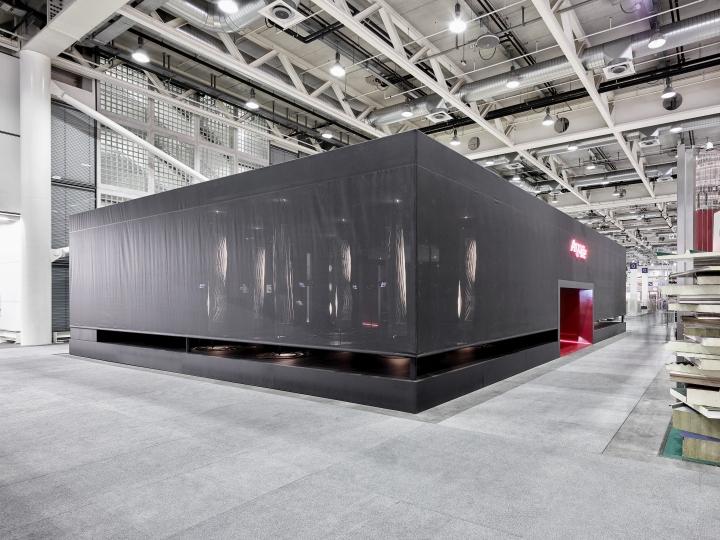 Exhibition Stand Ceiling : Argolite exhibition stand at swissbau fair by dobas