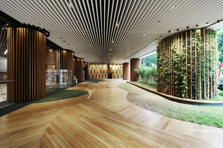 Green office lobby by 4n design architects hong kong for Hk architecture firm