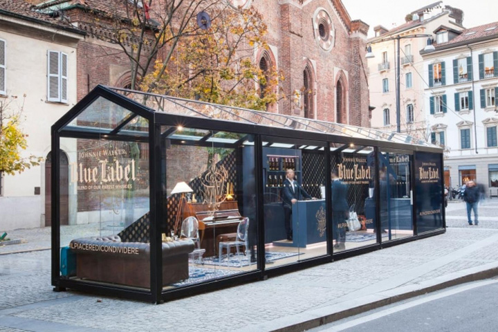 Johnnie walker blue store milan italy for Unique design milano