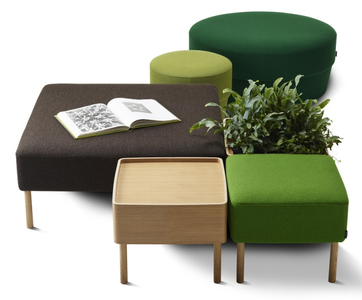 Konnekt Pouf system by Roger Persson for Swedese Retail Design Blog