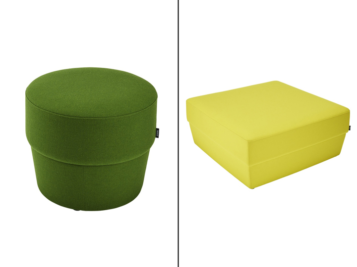 Konnekt Pouf system by Roger Persson for Swedese Retail Design