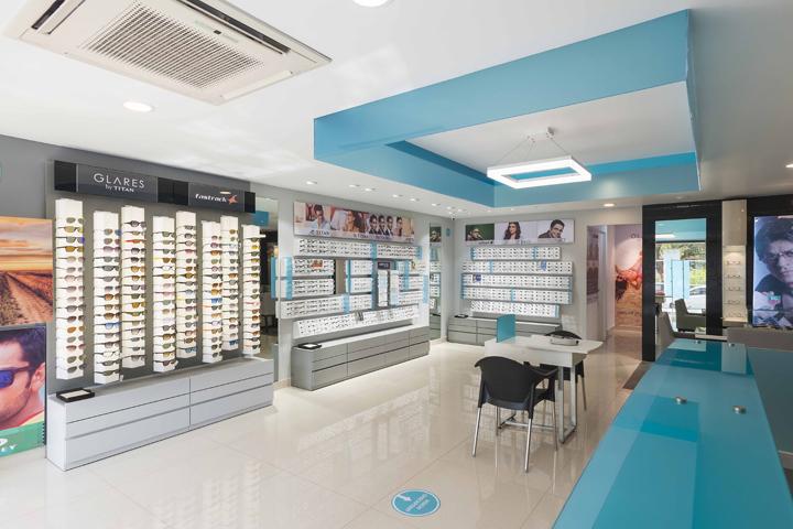 Titan Eyeplus eyewear store by Foley Designs  Bangalore   India. products   Retail Design Blog