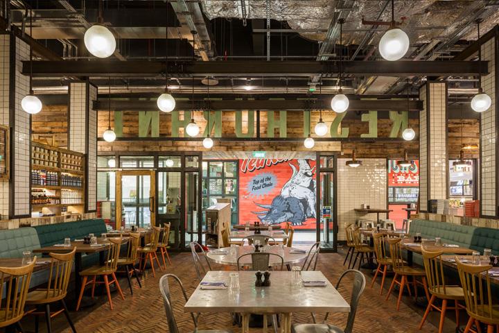 Jamies Italian restaurant at Gatwick airport by Blacksheep London