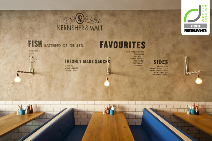 Fish Restaurants Kerbisher Malt Fish Chips By Alexander Waterworth Interiors London Uk