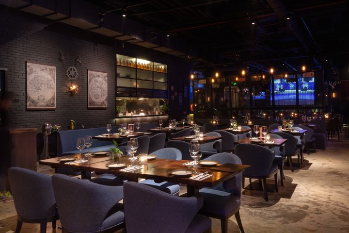 maru bar restaurant by asig design shanghai china - Restaurant Open Kitchen Design