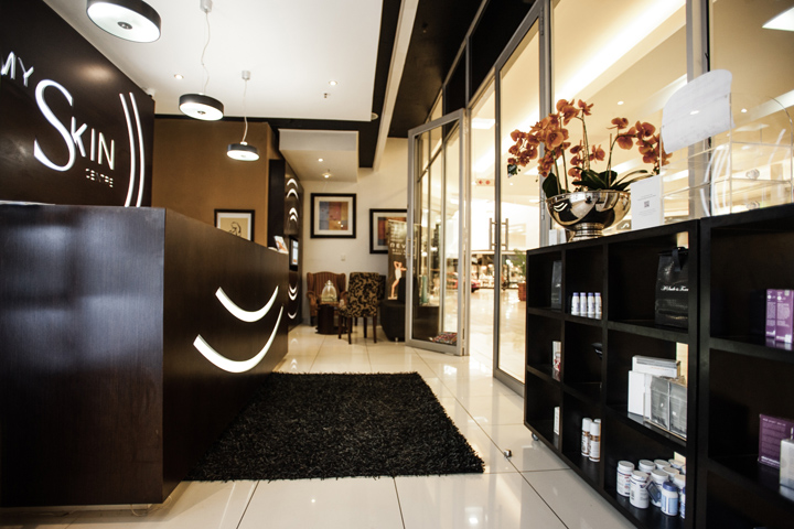 Creative Shop Retail Shopfitting Designed And Fitted Out The Interior For Upmarket Beauty Salon My Skin Centre In Johannesburg South Africa