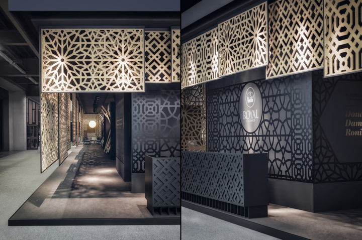 Exhibition Stand Design Italy : Royal ceramica pavilion at cersaie by paolo cesaretti