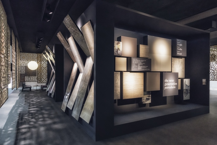 royal ceramica pavilion at cersaie 15 by paolo cesaretti