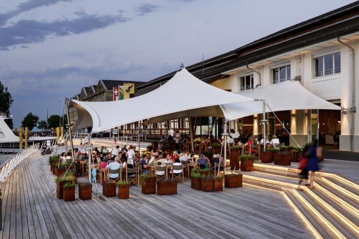 Restaurant hafen by susanne fritz architekten for Restaurant mannheim hafen