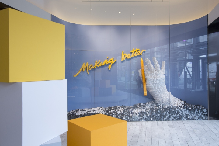 a5c30c513d Made from 35,000 paper cubes of sustainable British papers, Selfridges  Bright New Things hand sculptures by FLOW Creation are stopping shoppers in  their ...