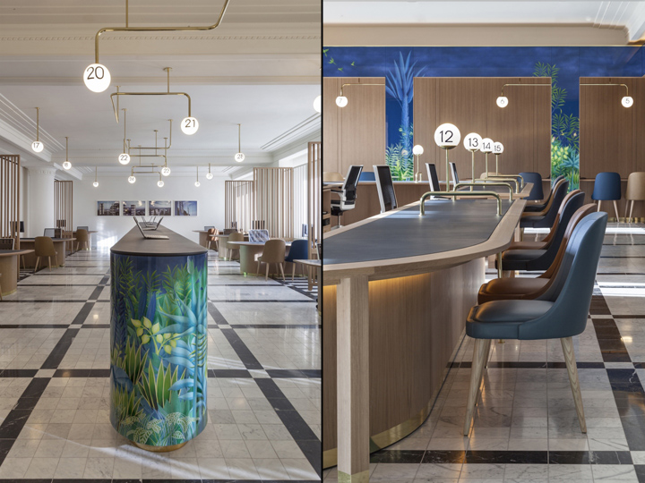 Selfridges international service lounge lighting scheme by for International decor services