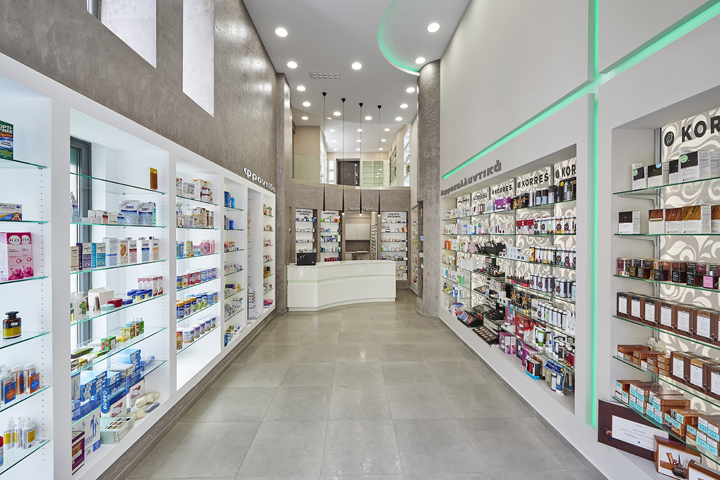 tsiagas john pharmacy by lefteris tsikandilakis aighio greece - Pharmacy Design Ideas