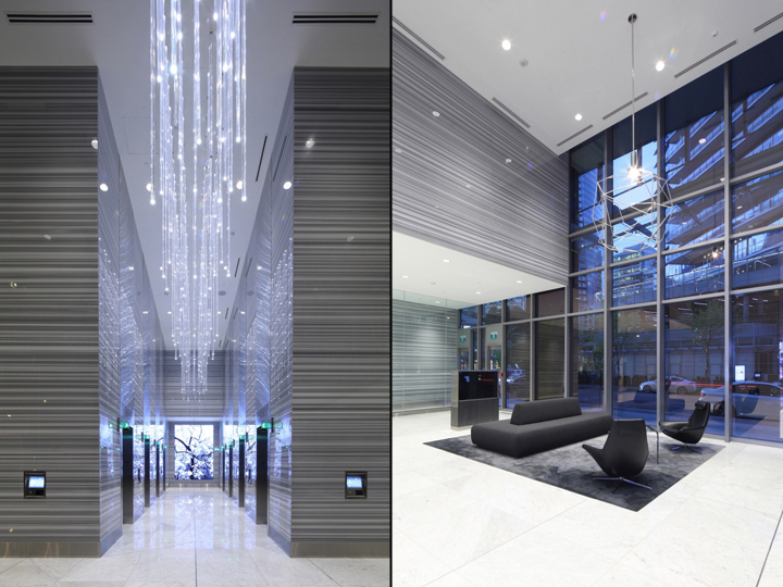 Foyer Office Vancouver : Thurlow office tower public spaces by mcm interiors