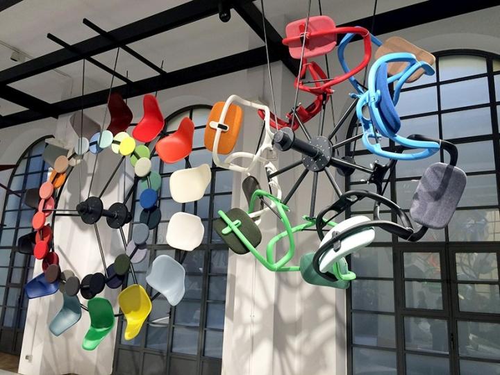 Colour Machine installation at Milan Design Week 2016 by Hella