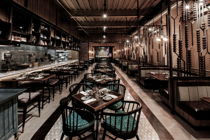 Imperial lamien restaurant by metaphor interior chicago