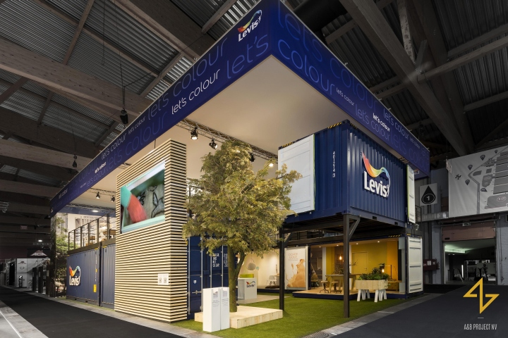 Exhibition Stand Flooring : Levis let s colour exhibition stand by a b project at