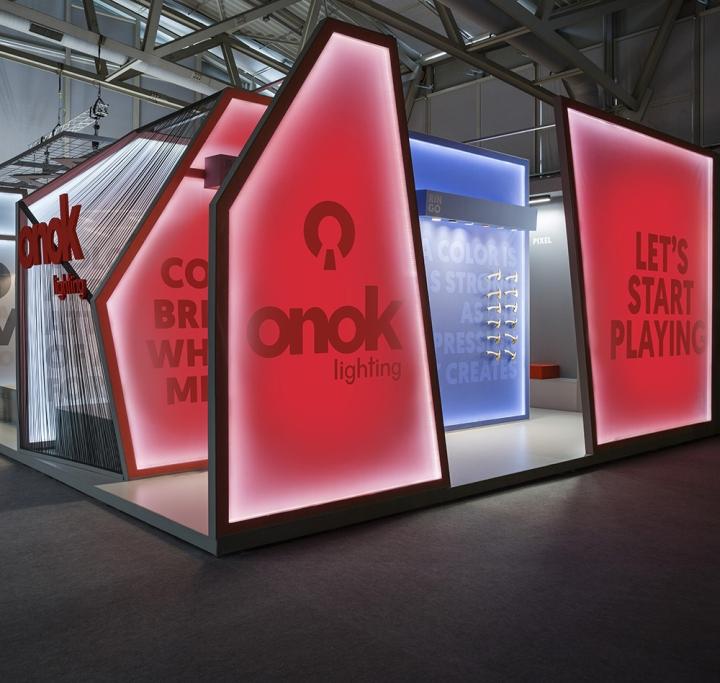 Onok Stand At Light & Building By Masquespacio, Frankfurt
