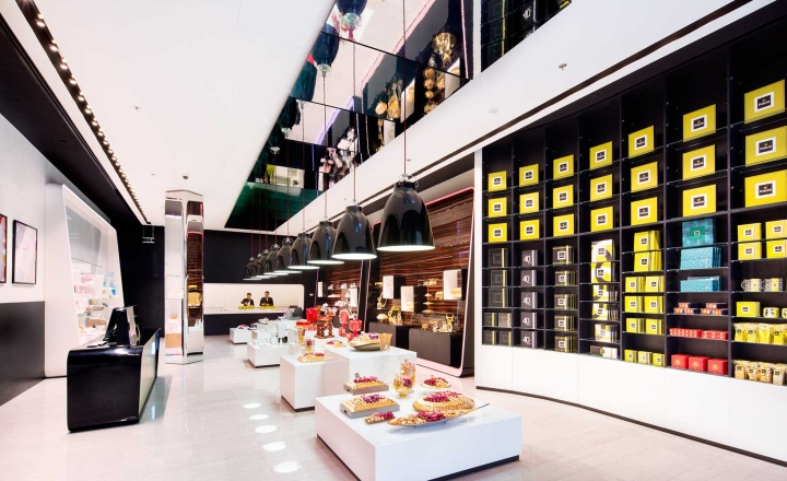 Patchi chocolate shop at Yas Mall by Lautrefabrique Architects, Abu ...