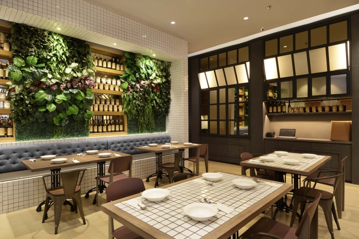 Uncle Thjin Bistro by Metaphor Interior Jakarta Indonesia
