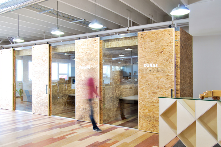 at office by est architecture montreal canada architects sliding door office